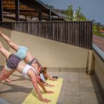 Yoga Hand stand on rooftop