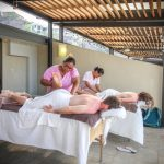 Massage on pvt rooftop patio