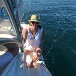 Amy on Boat